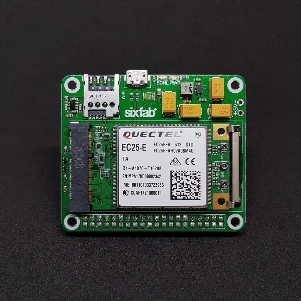3g 4g Lte Base Hat For Raspberry Pi Sixfab Circuit Board Shield V2