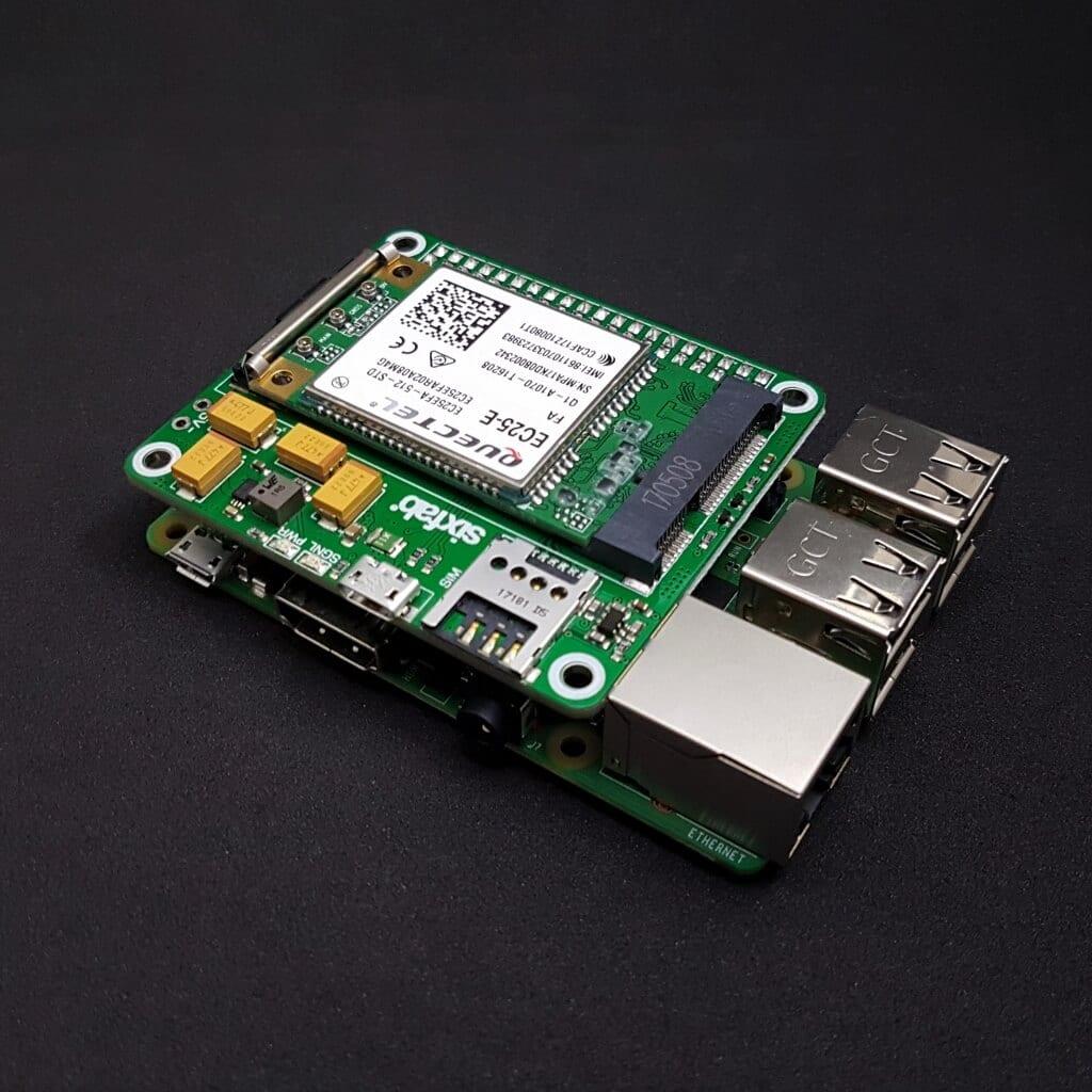 Raspberry Pi 3G-4G/LTE Base Shield V2 – Sixfab