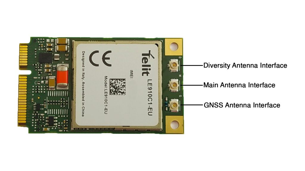 Telit LE910C1 Mini PCIe LTE CAT1 Module Antenna Interfaces